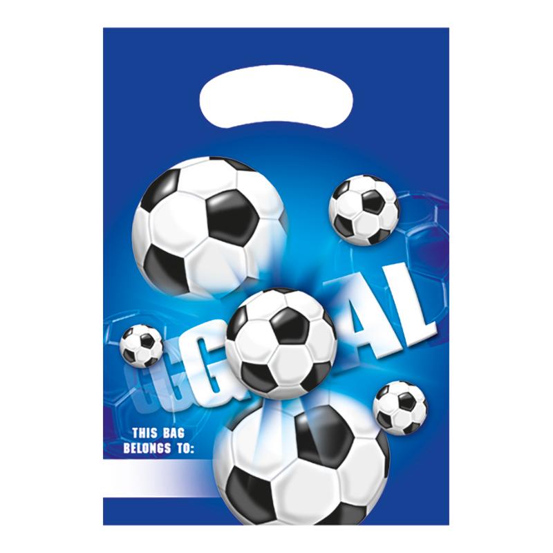 Kalaspåsar Fotboll Blå - 6-pack