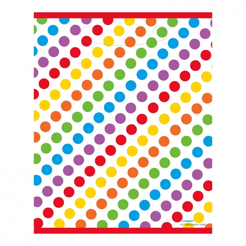 Kalaspåsar Happy Birthday Rainbow - 8-pack