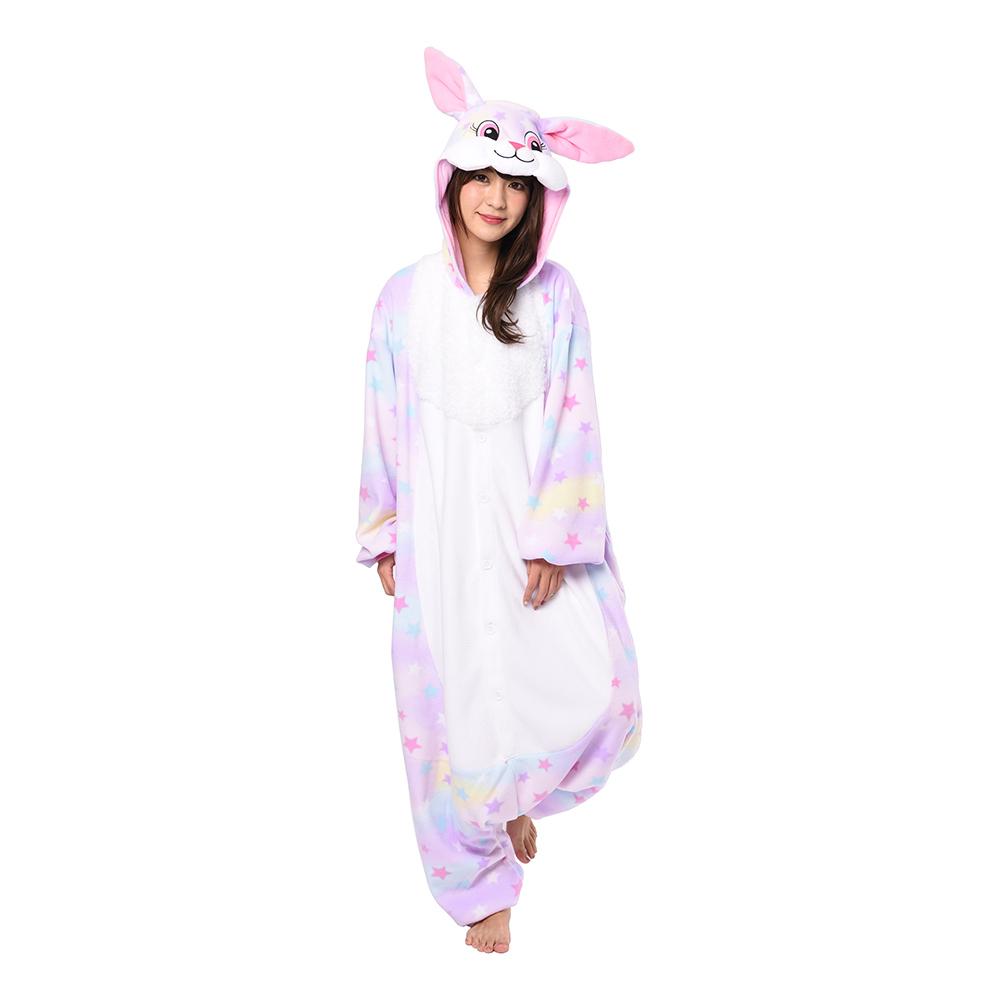 Kanin Pastell Stjärna Kigurumi - Medium