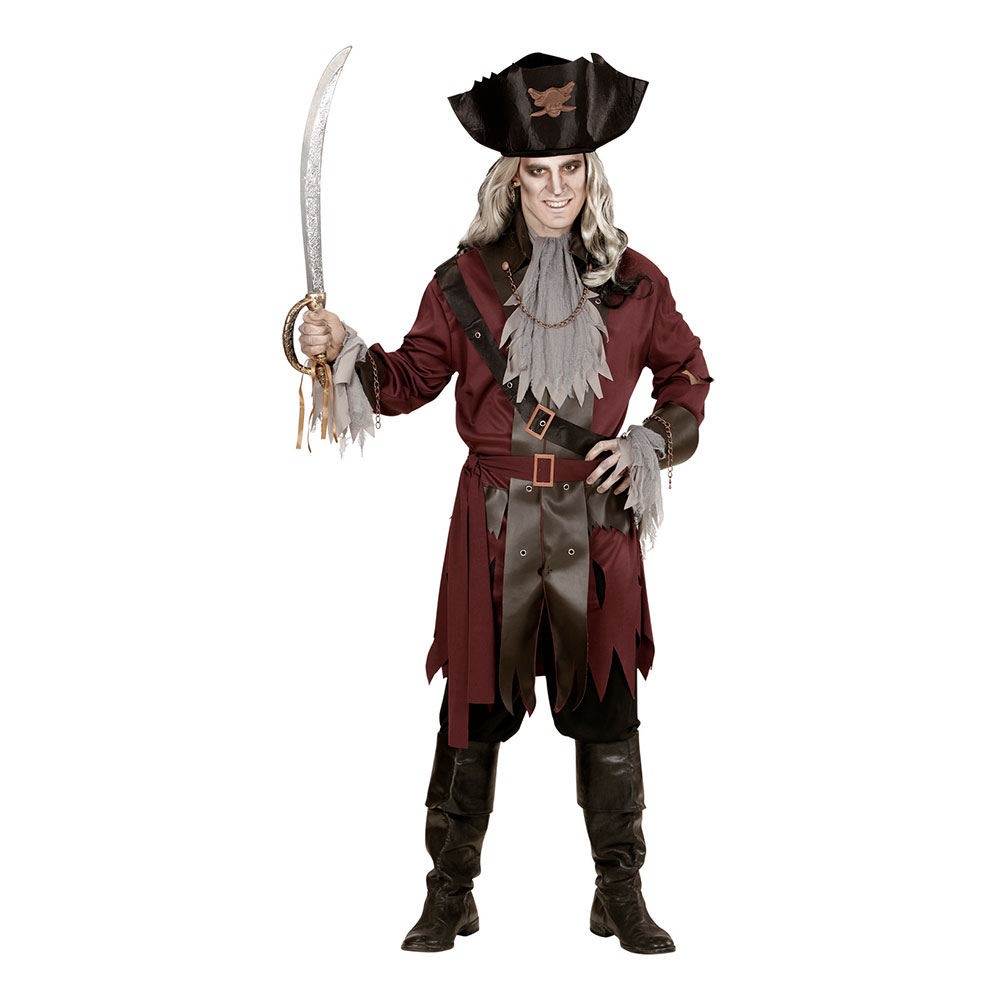 Kapten Krok Spöke Maskeradderaddräkt - One size
