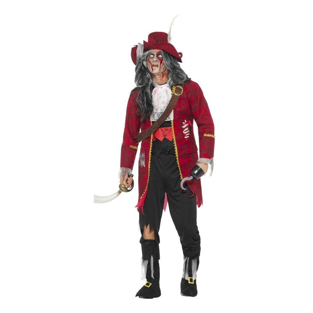Kapten Krok Zombie Maskeraddräkt - Large