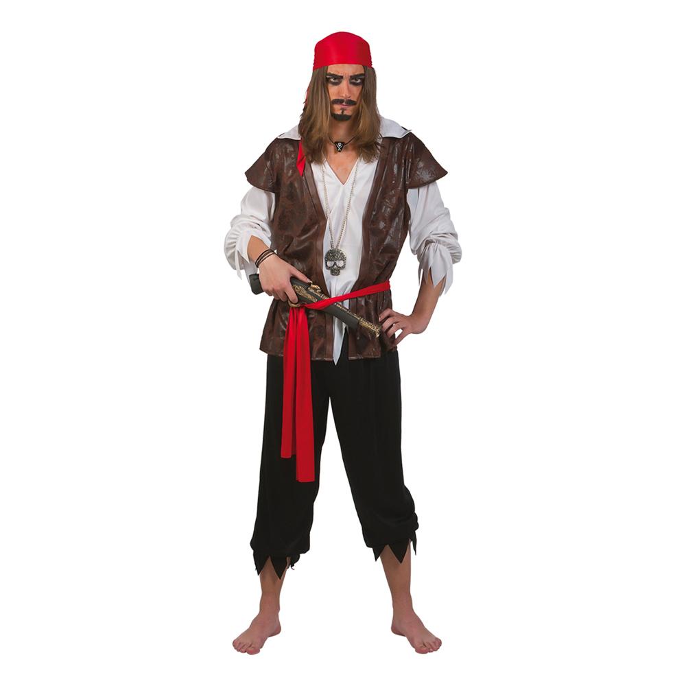 Karibisk Pirat Maskeraddräkt - One size