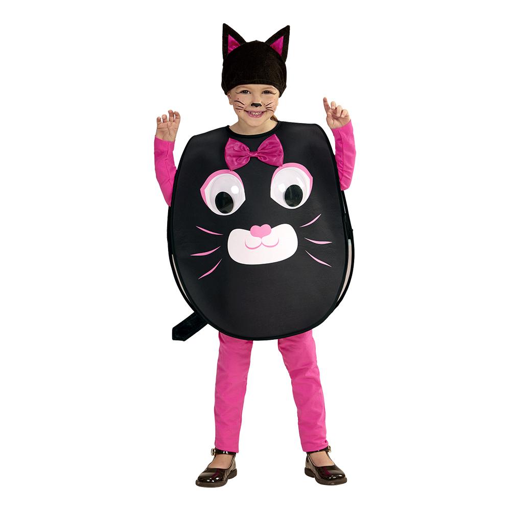 Katt med Stora Ögon Barn Maskeraddräkt - Large