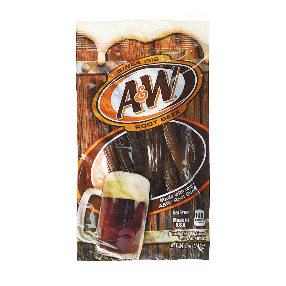 Kenny's A&W Root Beer Twists - 142 gram