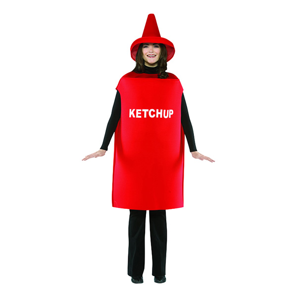 Ketchup Maskeraddräkt - One size