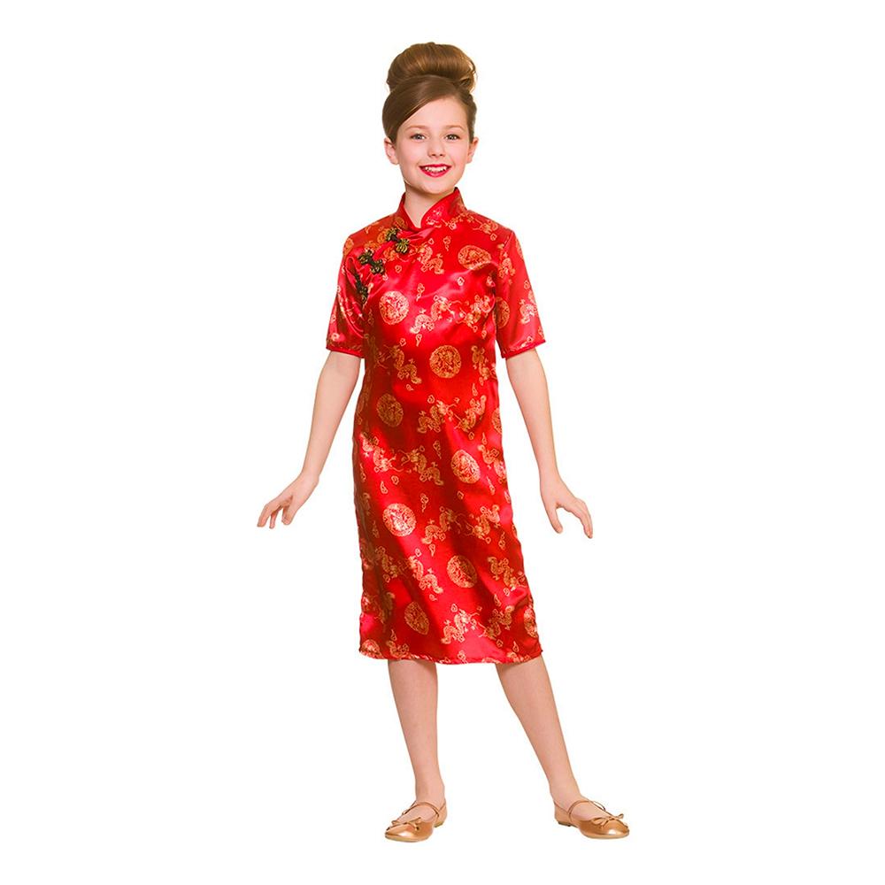Kinesisk Flicka Barn Maskeraddräkt - Large billigt online ... 1a6d961bbdfb8