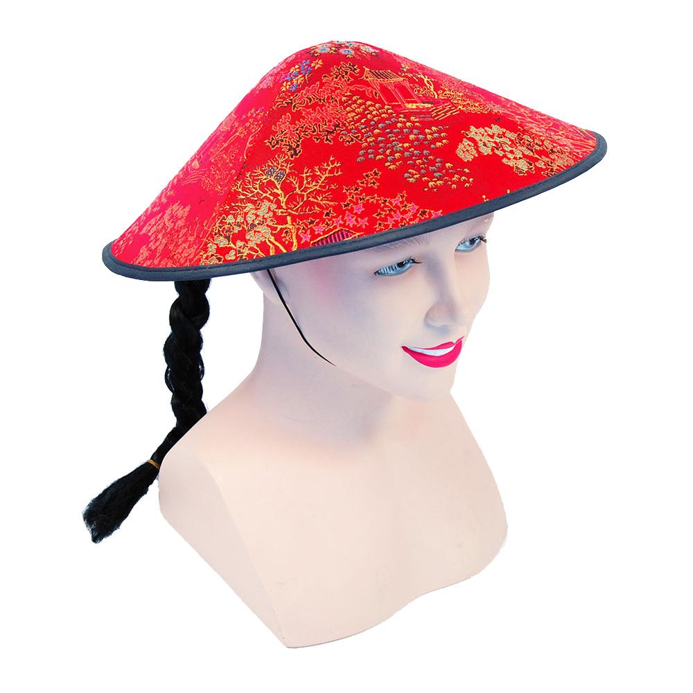 Kinesisk Hatt med Fläta thumbnail