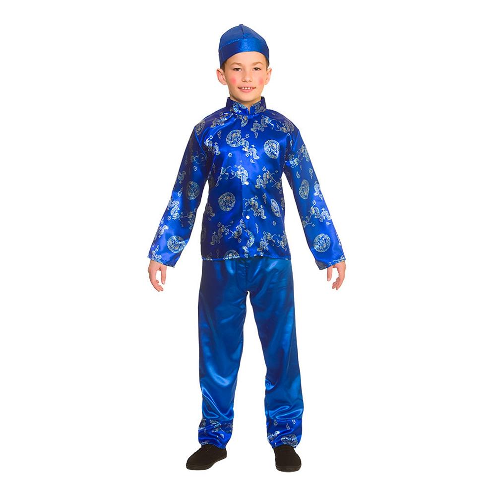 Kinesisk Pojke Barn Maskeraddräkt - Large