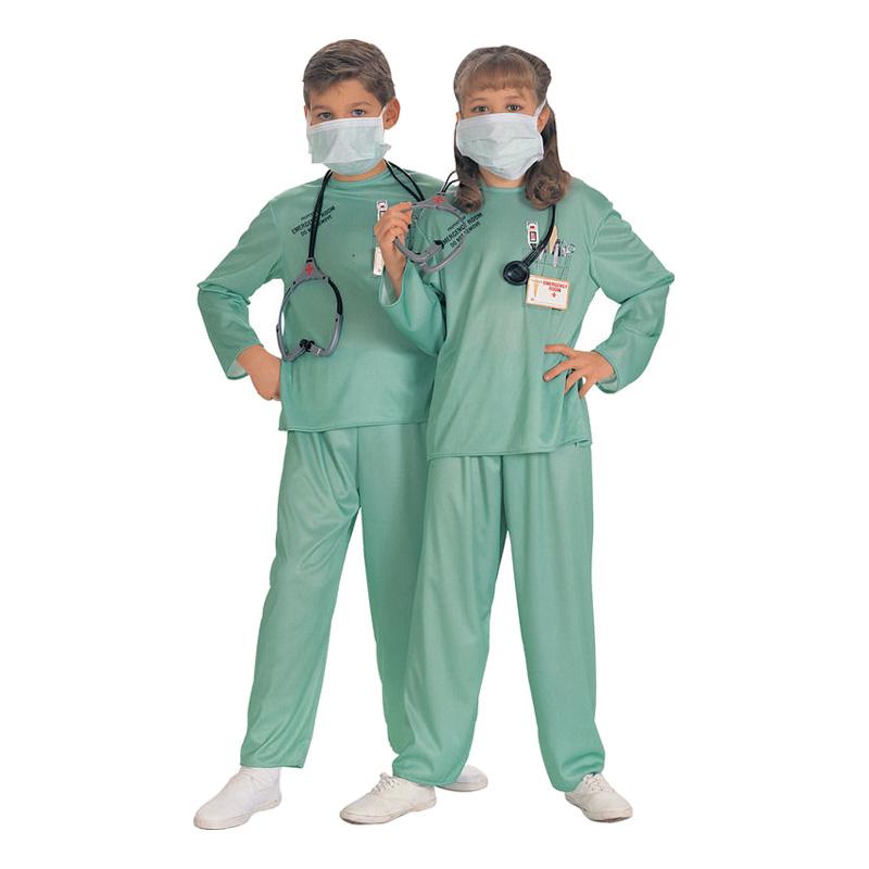 Kirurg Barn Maskeraddräkt - Small