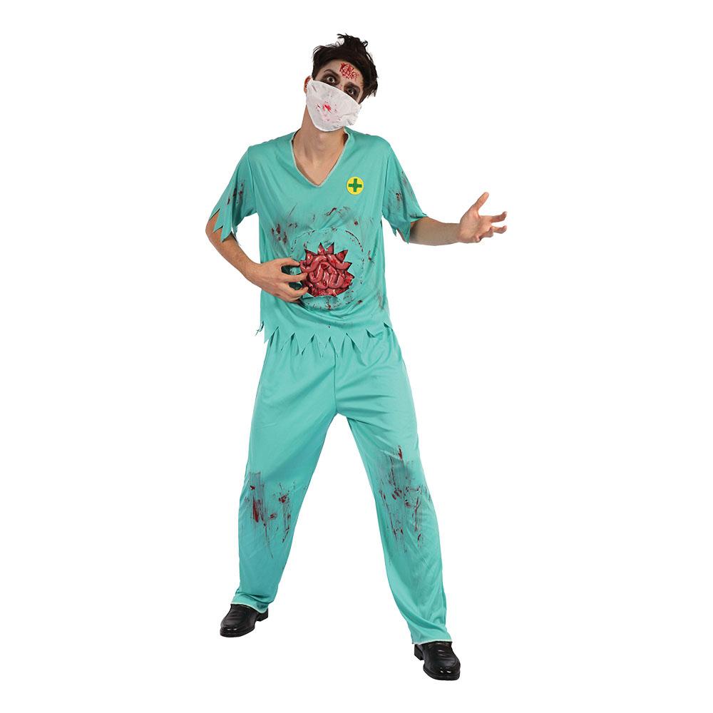 Kirurg Zombie Maskeraddräkt - One size
