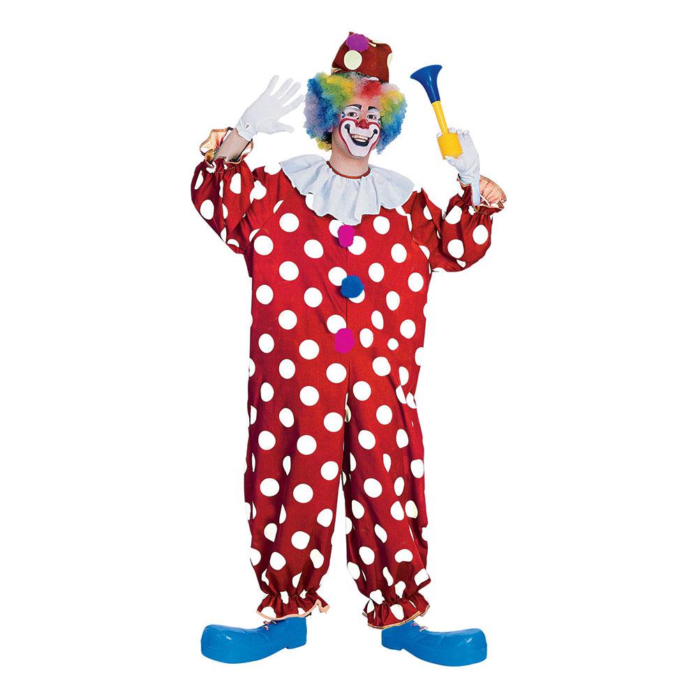 Klassisk Clown Maskeraddräkt - One size