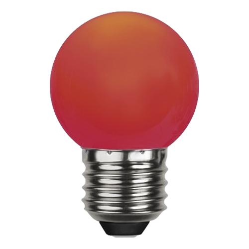 Klotlampa E27 LED - Röd