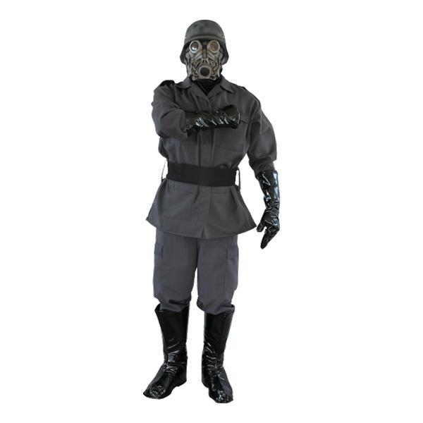 Soldat med Gasmask Maskeraddräkt - One size