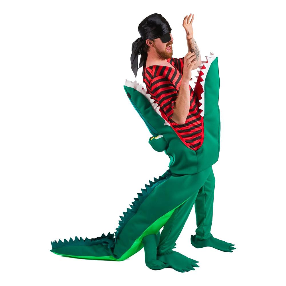Krokodilattack Pirat Maskeraddräkt - One size