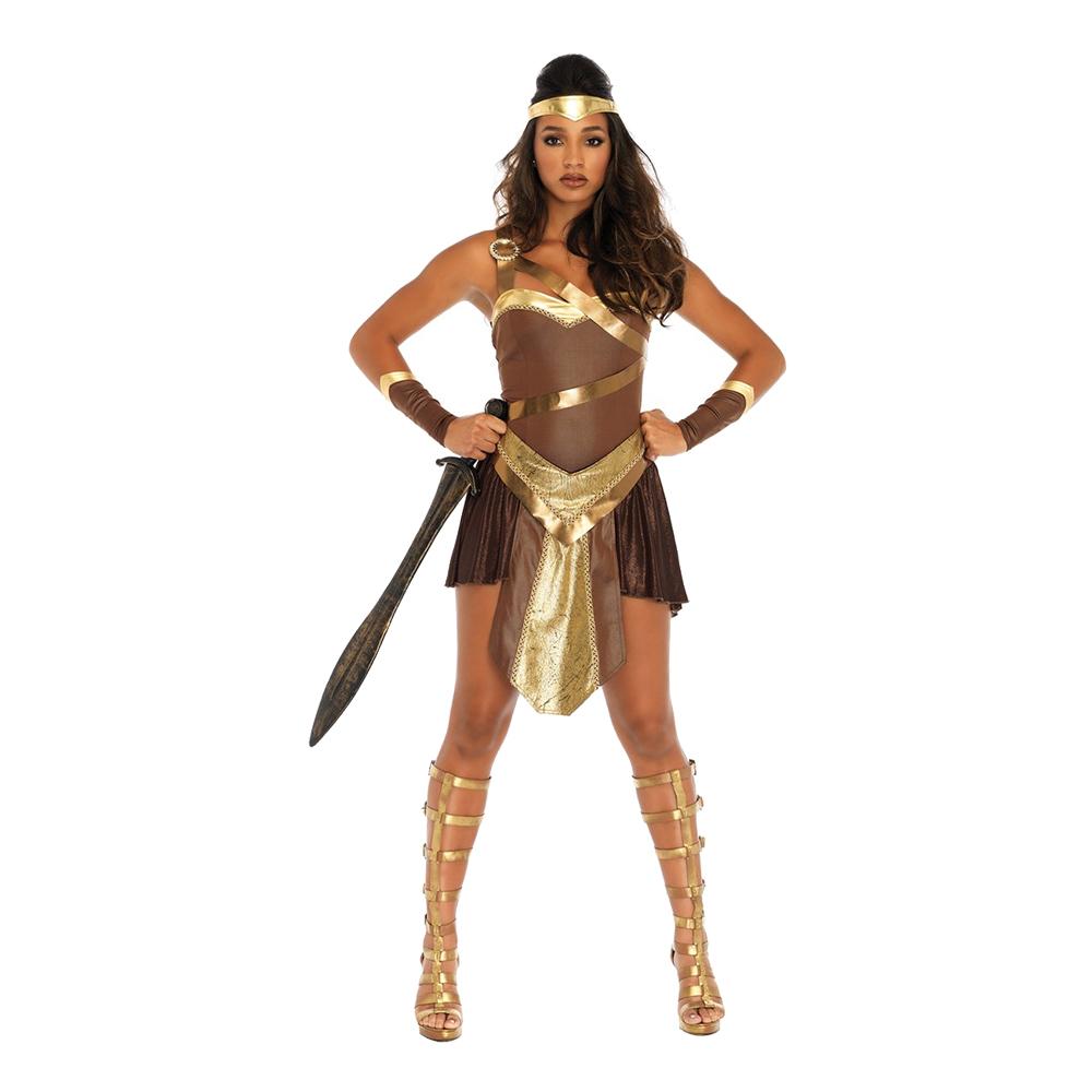 Kvinnlig Gladiator Deluxe Maskeraddräkt - Small