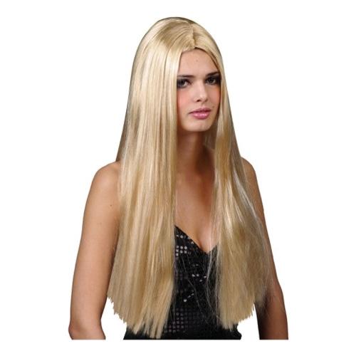 Lång Blond Peruk - One size