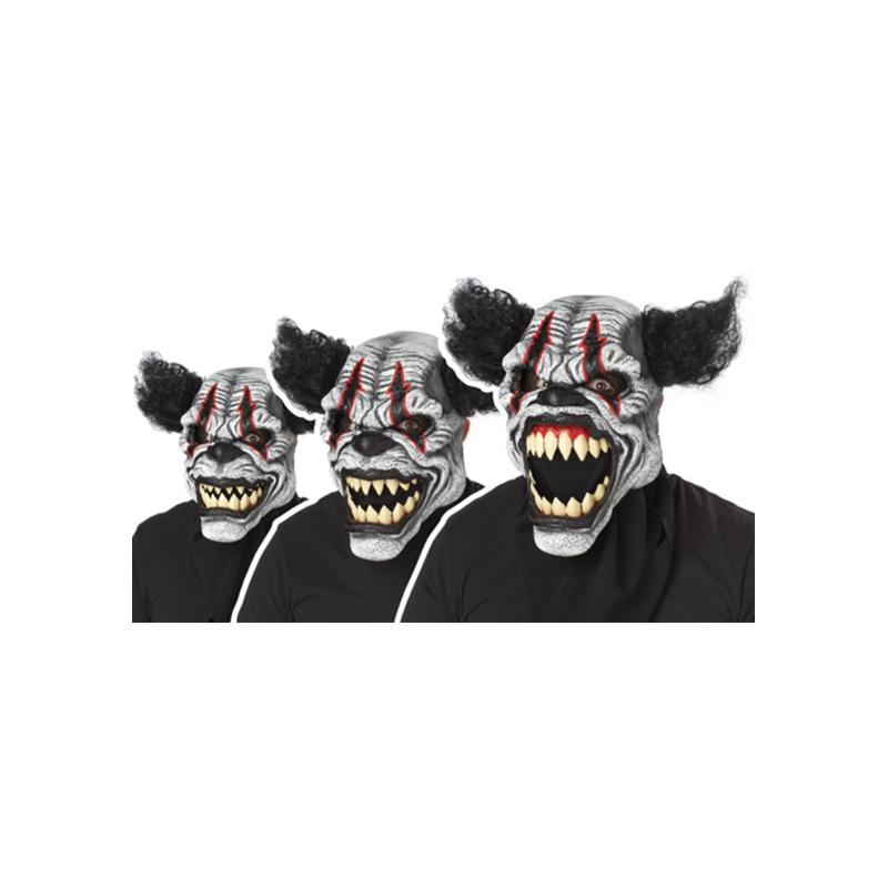 Läskig Clown Ani-Motion Mask - One size