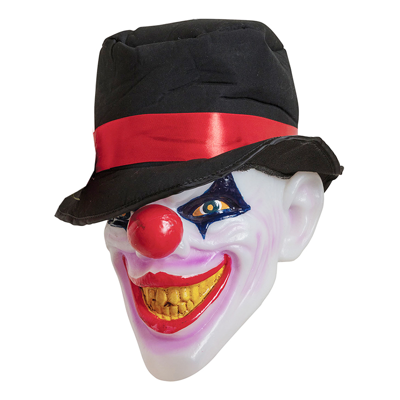 Läskig Clown med Belysning Prop