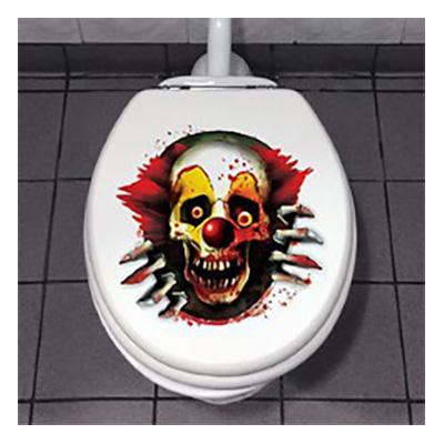 Läskig Clown Toalettdekoration
