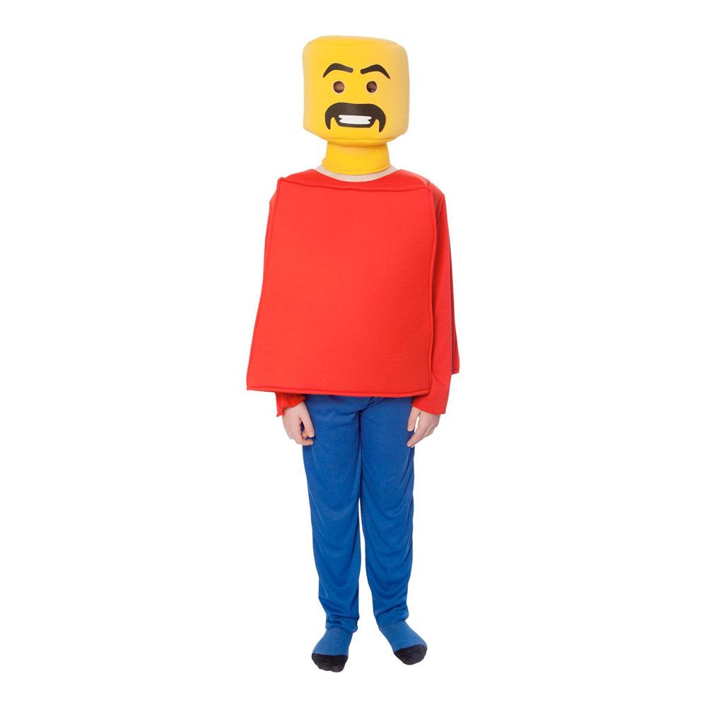 Legogubbe Barn Maskeraddräkt - Small