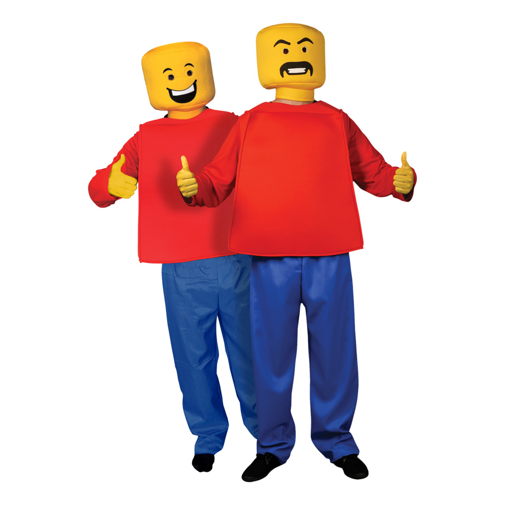 Legogubbe Maskeraddräkt - One size