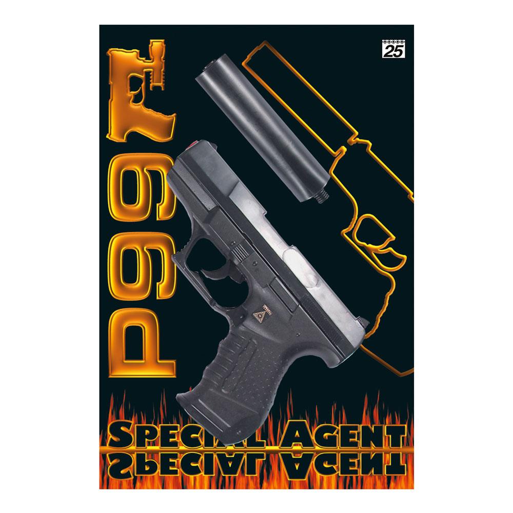 Leksakspistol P99 med Ljuddämpare