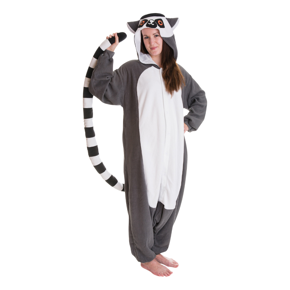 Maskeradkläder Vuxna - Lemur Kigurumi - Medium