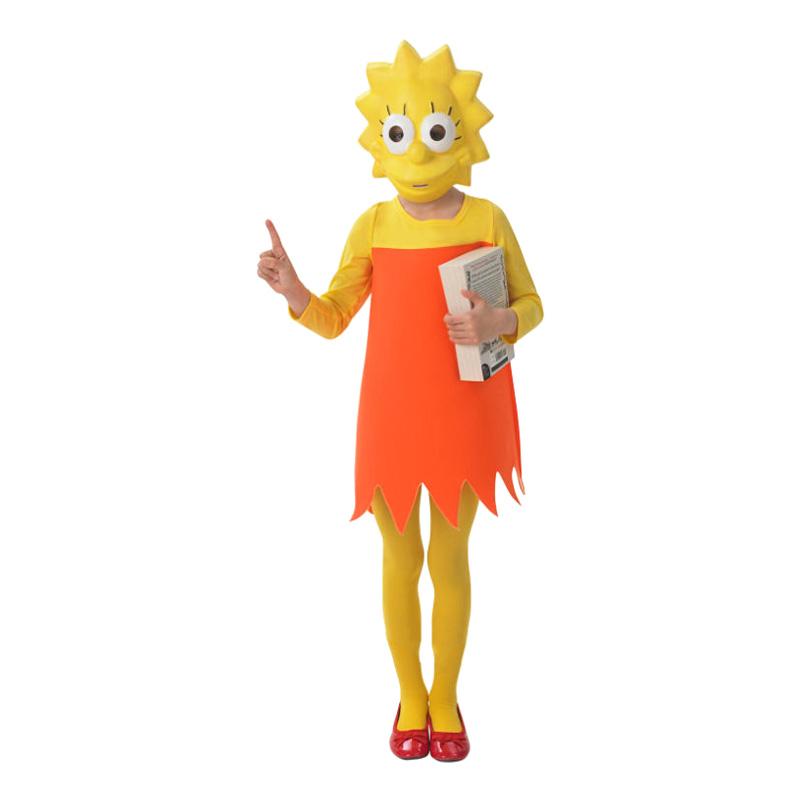 Lisa Simpson Barn Maskeraddräkt - Medium