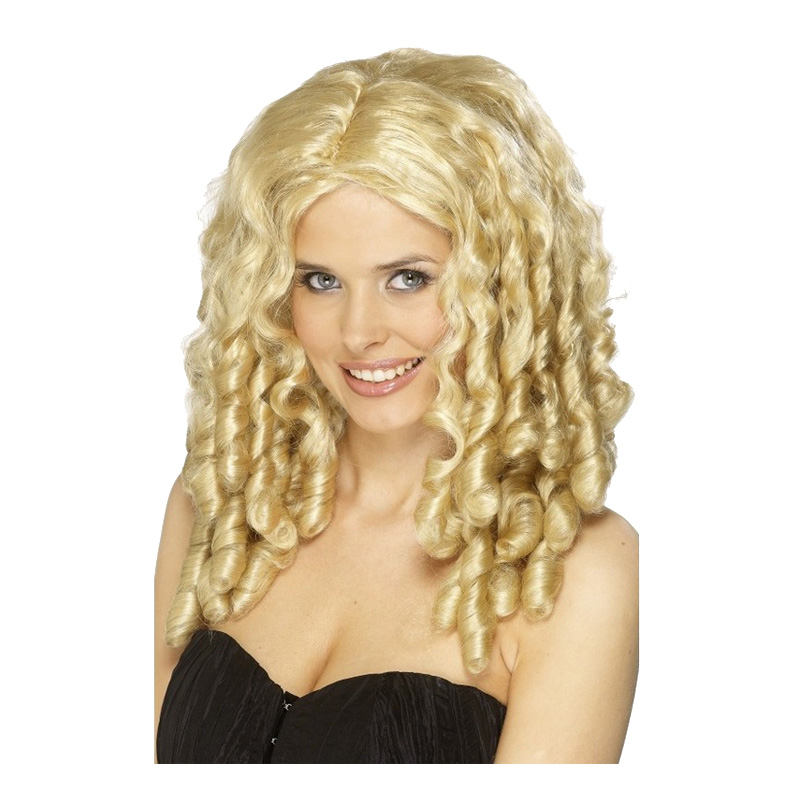 Lockig Blond Peruk - One size