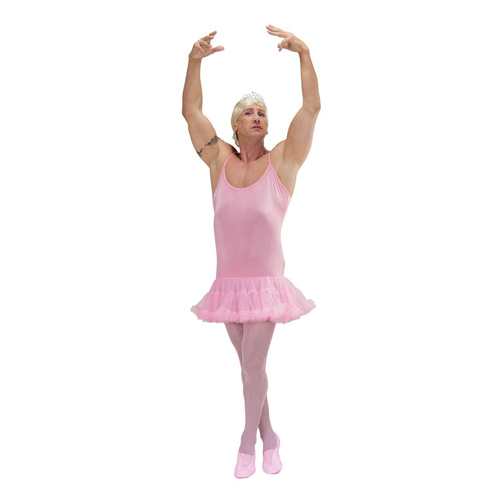 Manlig Ballerina Rosa Maskeraddräkt - One size