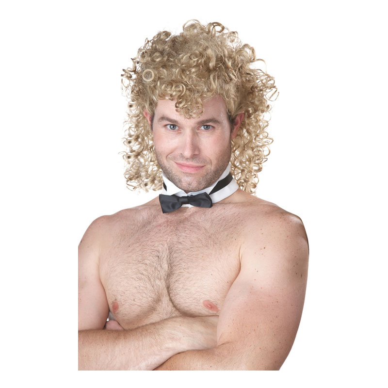 Manlig Strippare Blond Peruk - One size