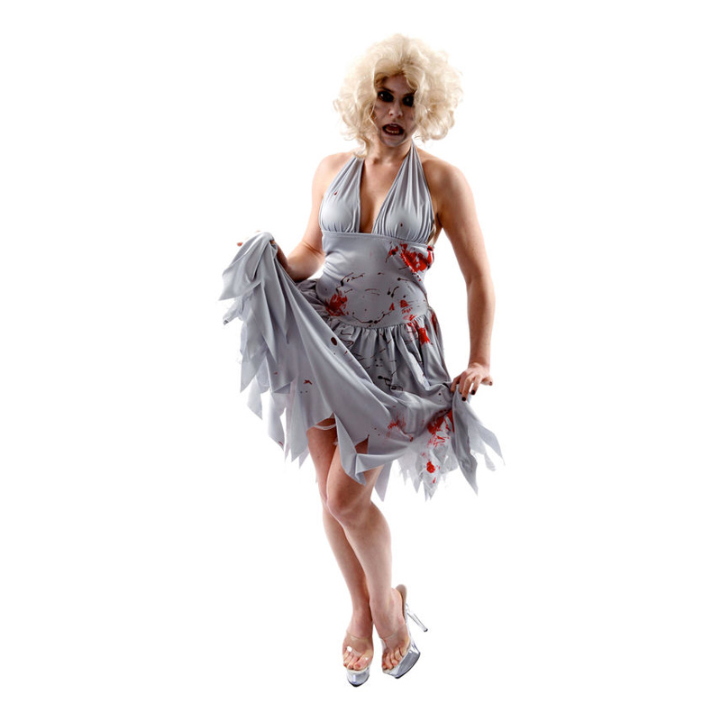 Marilyn Monroe Zombie Maskeraddräkt - Medium