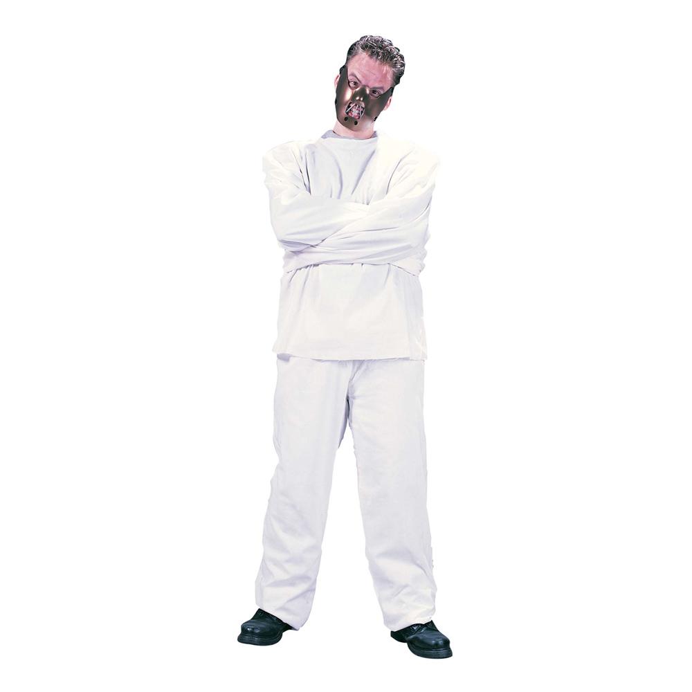 Mentalpatient med Munkavle Maskeraddräkt - One size