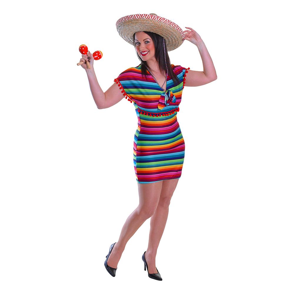 Mexikansk Klänning Maskeraddräkt - One size