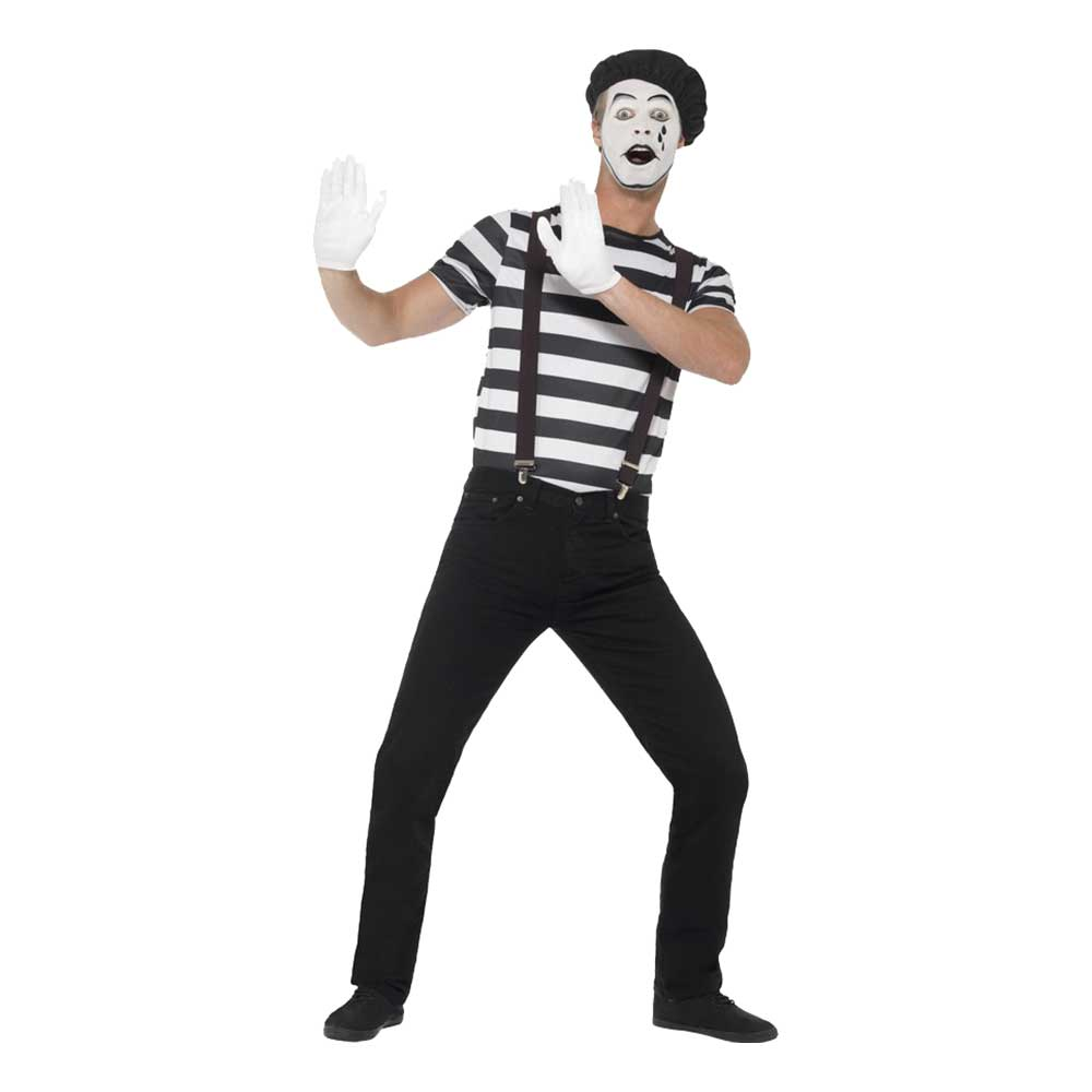 Mime Artist Maskeraddräkt - Medium
