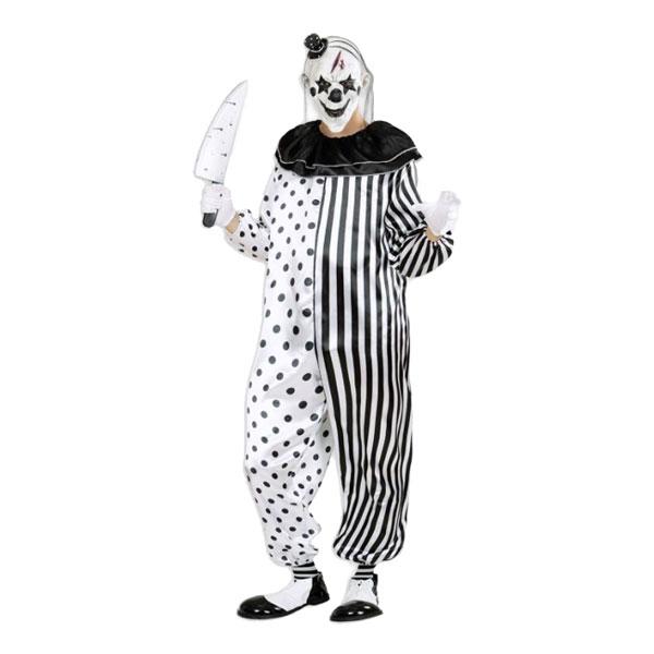 Mördar Pierrot Maskeraddräkt - Small