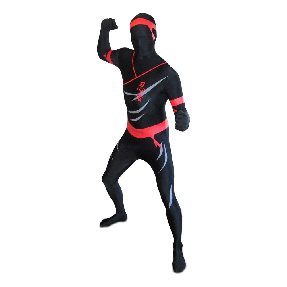 Morphsuit Ninja Maskeraddräkt - Large