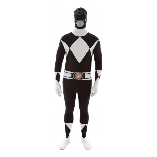 Power Ranger Svart Morphsuit - Large