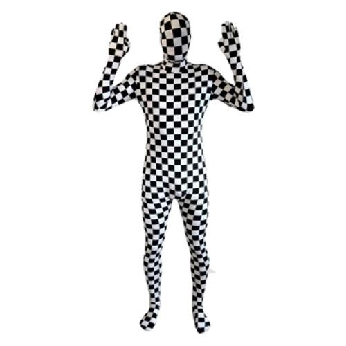 Morphsuit Schackrutig Maskeraddräkt - Large