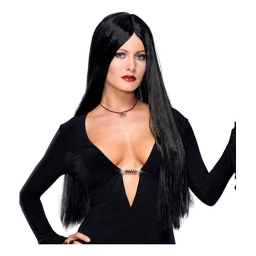 Morticia Addams Peruk - One size