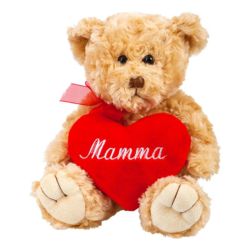 Nallebjörn med Hjärta Mamma