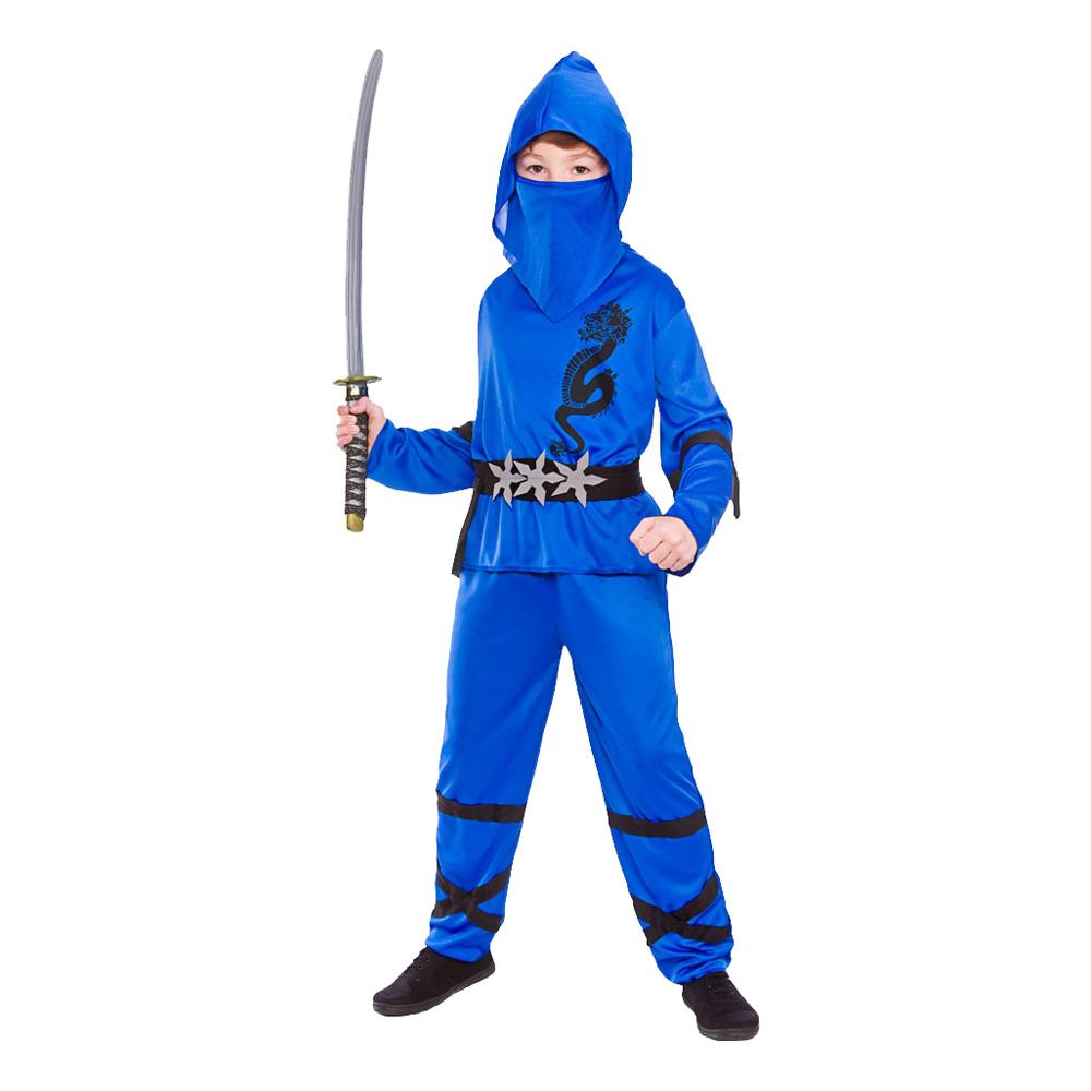 Ninja Barn Blå Maskeraddräkt - Small