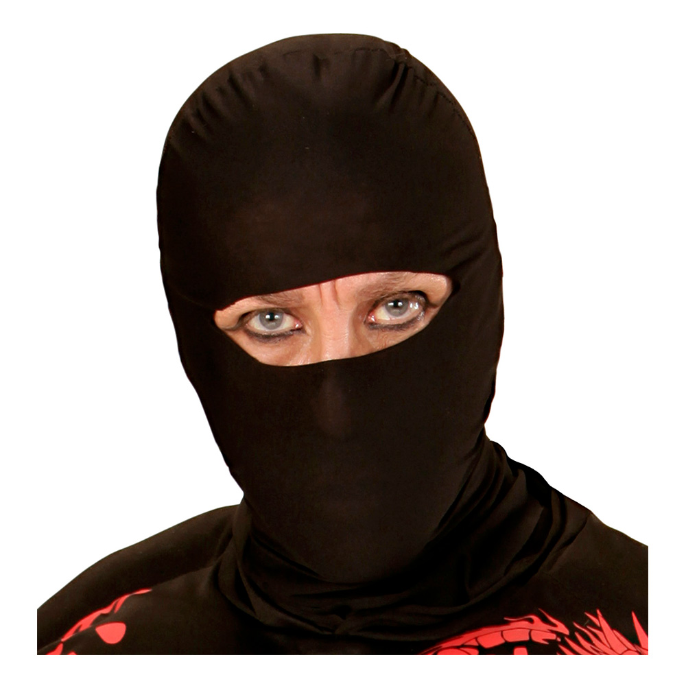 Ninja Svart Mask - One size