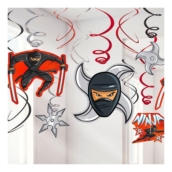 Ninja Swirls Hängande Dekoration - 6-pack