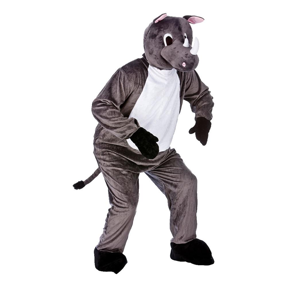 Noshörningsmaskot Maskeraddräkt - One size