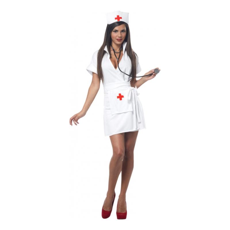 Sjuksköterska Vit Maskeraddräkt - Small