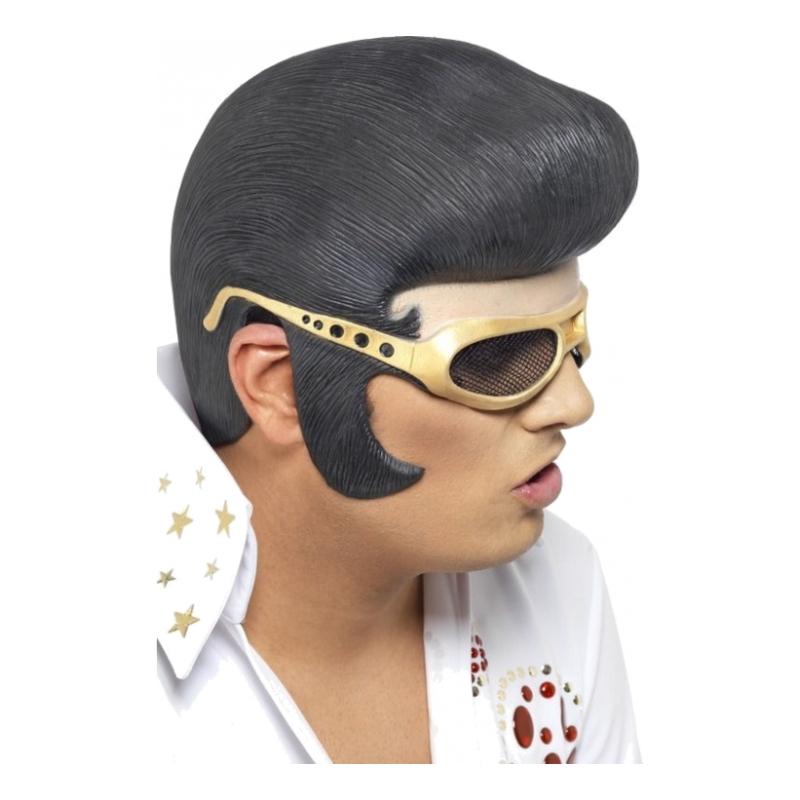 Elvis Huvudstycke med Gummiglasögon - One size