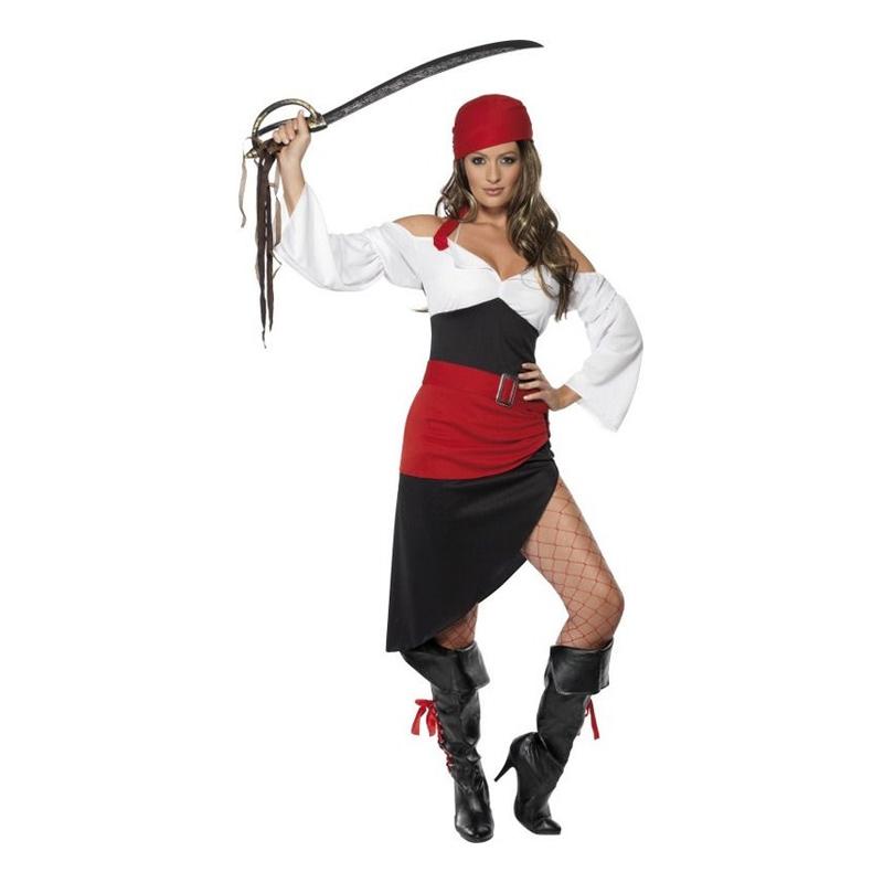 Oförskämd Pirattjej Maskeraddräkt - Small