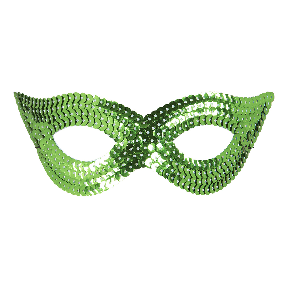 Ögonmask Paljett Grön