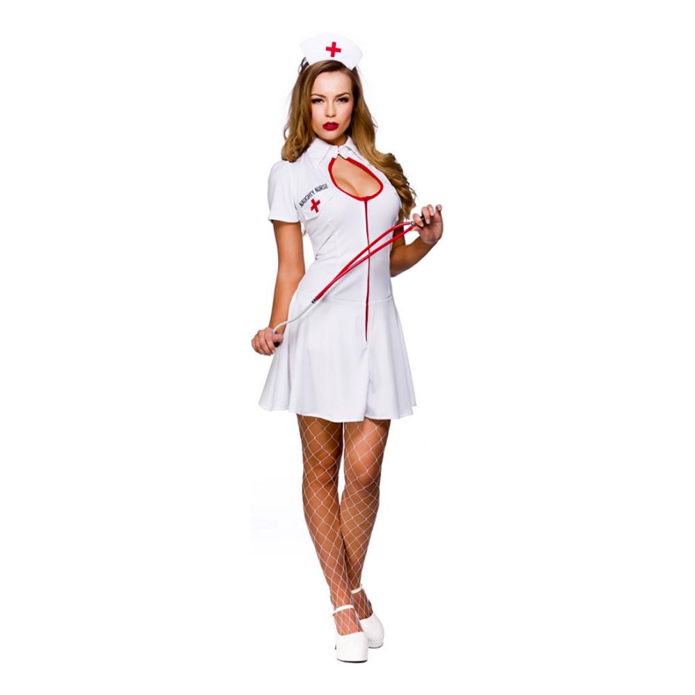Sjuksköterska Klänning Maskeraddräkt - Medium